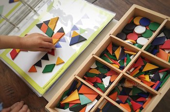 Geometric Shapes for Preschooler with Spielgaben