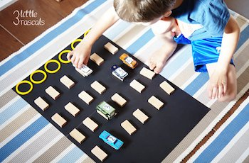 Number Recognition Car Racing Game with Spielgaben